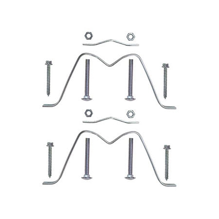 Channel Master 7.6-cm (3-in) Antenna Mast Heavy Duty Wall Mount - Pair
