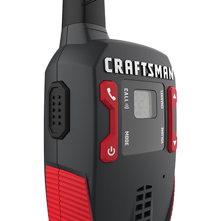 Craftsman 25-km (16-mile) GMRS/FRS Rechargeable Two-Way Radio - 2 Pack - Black