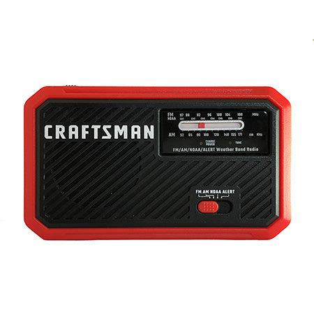 Craftsman Rechargeable AM/FM Weather Radio with Flashlight