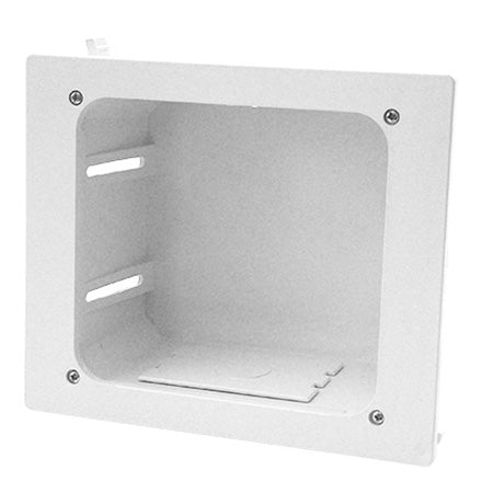 Construct Pro In-Wall Recessed Entertainment Box - White