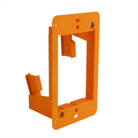 Construct Pro Slim Single Gang Open Back Low Voltage Bracket - Orange