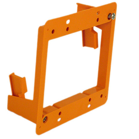 Construct Pro Slim Dual Gang Open Back Low Voltage Bracket - Orange
