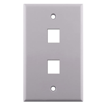 Construct Pro Single Gang 2 -port Keystone Insert Wall Plate - White