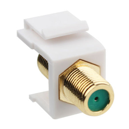 Construct Pro Gold-Plated 3-GHz F-81 Connector Keystone Insert - White