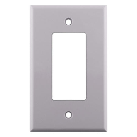 Construct Pro Single Gang Decora Cover Wall Plate - White