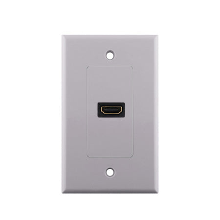 Construct Pro HDMI Single Pigtail Wall Plate - White
