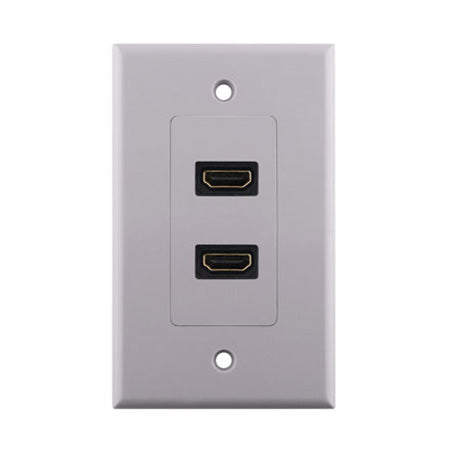 Construct Pro HDMI Dual Pigtail Wall Plate - White