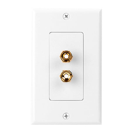 Construct Pro Decora Wall Plate with 2 Binding Post - White