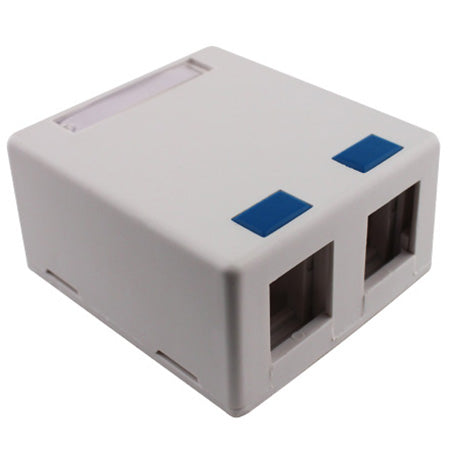 Construct Pro Dual White Surface Mount Box-With Adhesive Back (White)