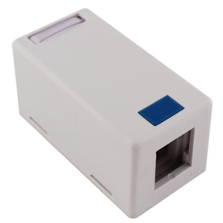 SureConx Single White Surface Mount Box-With Adhesive Back (White)