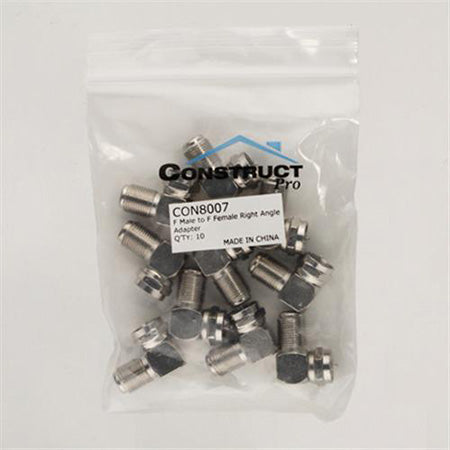 Construct Pro F Male to F Female Right Angle Adaptor - 10-pack