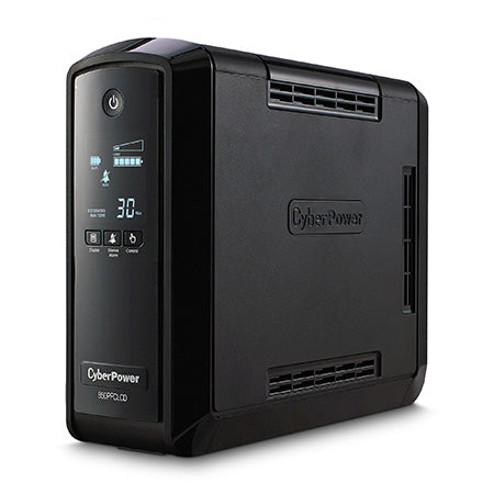 CyberPower 850-VA 510-watt 10 Outlet PFC Sine Wave UPS with LCD Display