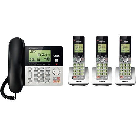 Vtech 3-Handset DECT 6.0 Cordless Phone with Answering System and Caller ID - Silver