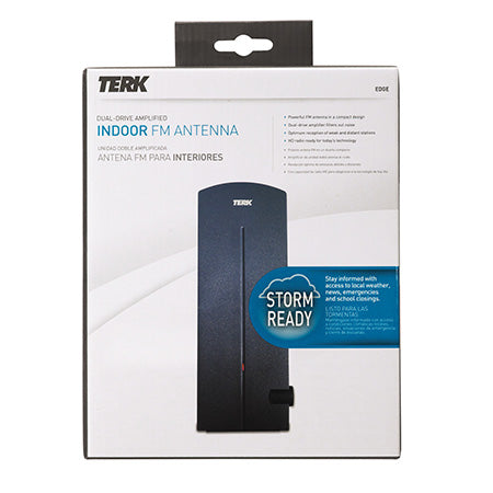 TERK Indoor Dual-Drive Amplified FM Antenna - Black