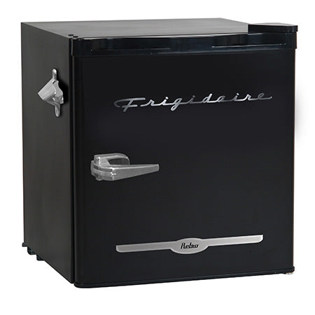 Frigidaire 1.6-cu ft Retro Bar Fridge with Side Bottle Opener - Black