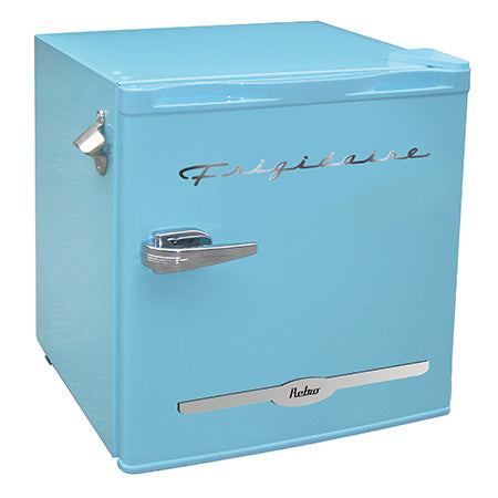 Frigidaire 1.6-cu ft Retro Bar Fridge with Side Bottle Opener - Blue