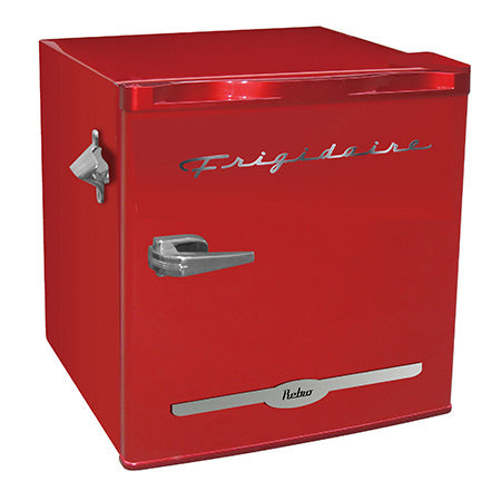 Frigidaire 1.6-cu ft Retro Bar Fridge with Side Bottle Opener - Red