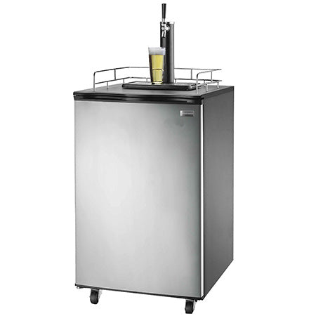 Frigidaire 6.1-cu ft Kegerator Cooler and Beer Bar - Stainless Steel
