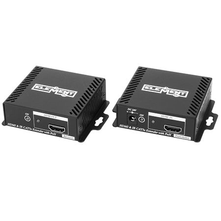 Element-Hz 4K HDMI Extender Set Over Single Cat5e/6/6a/7 with Power Over HDBaseT, IR & PoE