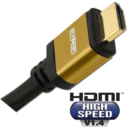Element-Hz High Speed HDMI Cable with Ethernet, Round Jacket - 0.5-meter (1.5-ft) - Black