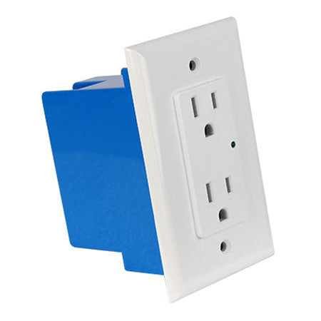 Element-Hz Power Series In-Wall Single Gang 1800-joules Surge Protector with Retrofit Backbox - White