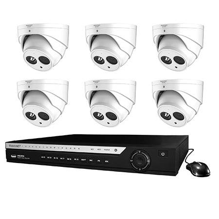 WatchNET 1080p 8-channel 2TB Penta-Brid DVR Security System with 6 x 2.1MP IR Turret Cameras