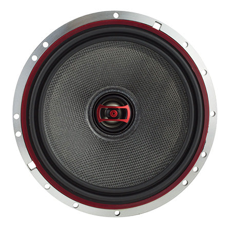 DS18 EXL Series 6.5-in 3-ohm 400-watts 2-Way Coaxial Auto Speaker with Fiber Glass Cone - Pair - Black