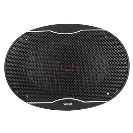 DS18 EXL Series 6-in x 9-in 3-ohm 560-watts 2-Way Coaxial Auto Speaker with Fiber Glass Cone - Pair - Black