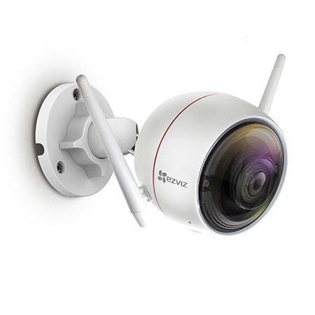 EZVIZ ezGuard 1080p Wireless WiFi Security Camera with Remote Activated Alarm System - White