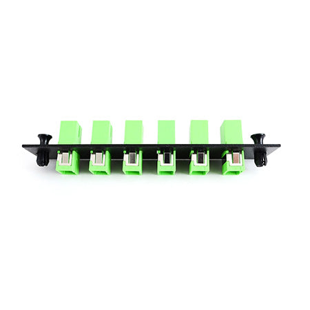 FIS SC 6-pack Plate Loaded with APC Adapters - Black
