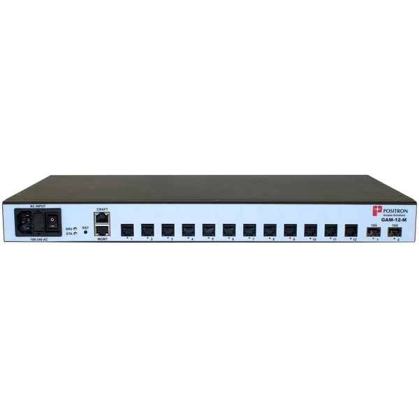 Positron Access 12 Port G.hn Aggregation Multiplexer GAM-12M for use over Twisted Pair wiring