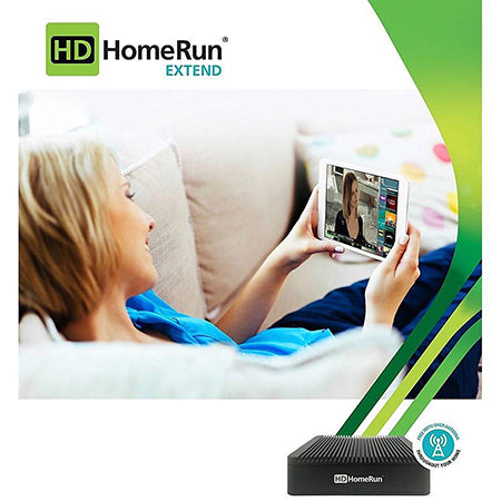 HDHomeRun EXTEND Dual Tuner for Live Over the Air and Recorded HDTV - Black