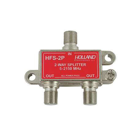 Holland Electronics 2-Way High Frequency Power Passing Splitter
