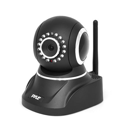 Pyle 1MP Pan/Tilt Indoor IP Security Camera with Two-Way Audio - Black