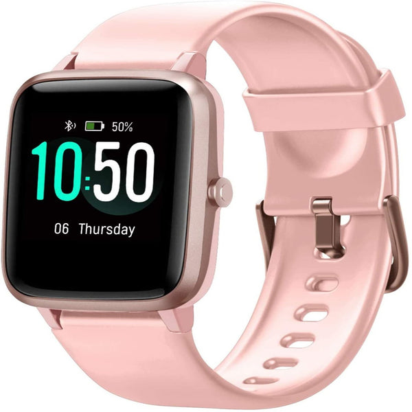 Letsfit ID205L Smart Watch & Fitness Tracker with Heart Rate Monitor - Pink