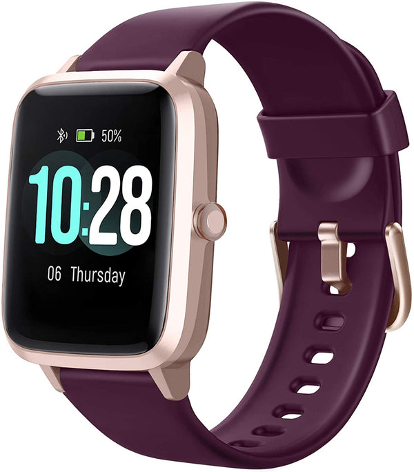 Letsfit ID205L Smart Watch & Fitness Tracker with Heart Rate Monitor - Purple with Rose Gold