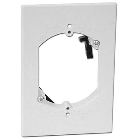 Arlington LV1RP Single Gang Low Voltage Mounting Bracket - White