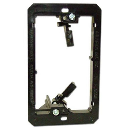 Arlington LV1 Single Gang Low Voltage Mounting Bracket - Black