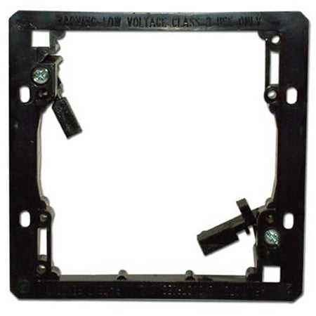 Arlington LV2 Double Gang Low Voltage Mounting Bracket - Black