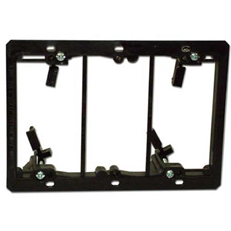 Arlington LV3 Triple Gang Low Voltage Mounting Bracket - Black