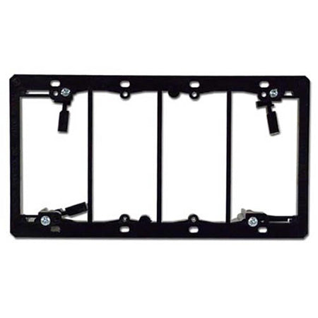 Arlington LV4 Four Gang Low Voltage Mounting Bracket - Black