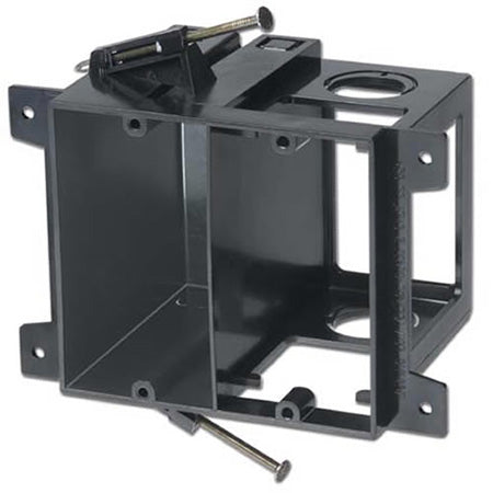 Arlington LVD2 Power and Low Voltage Box for New Construction - Black