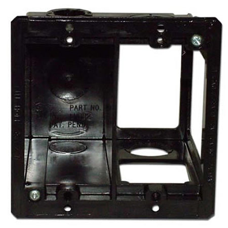 Arlington LVDR2 Combo Box for Power and Low Voltage - Black