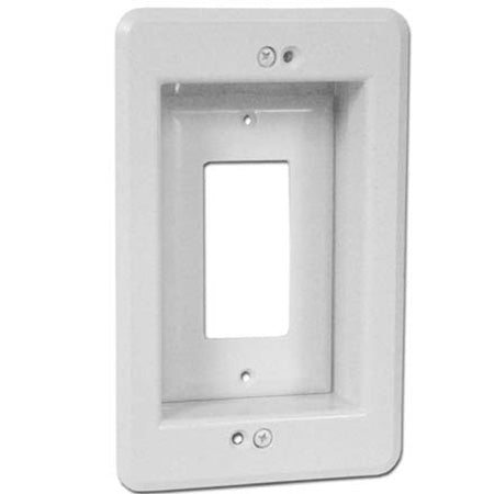 Arlington Single Gang Recessed Low Voltage Electrical Box