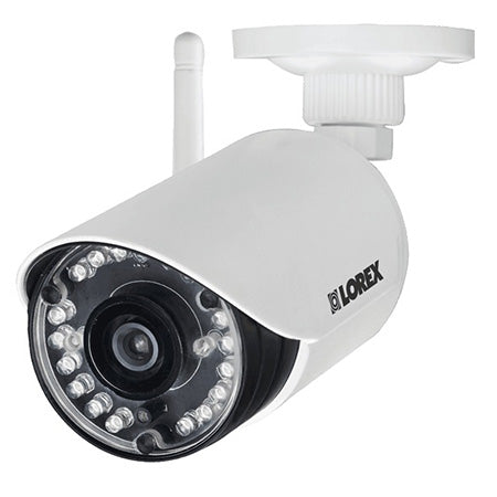 Lorex 720p HD Indoor/Outdoor Wireless Add-On Bullet Security Cameras with Receiver - 2-pack