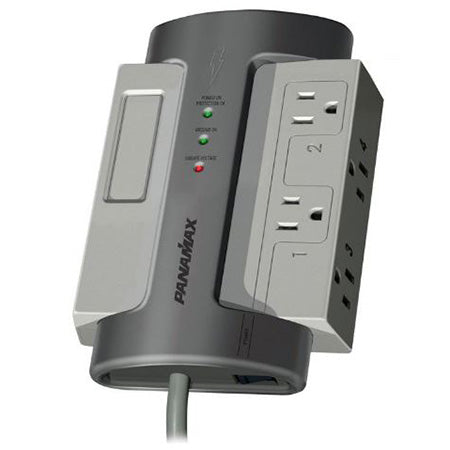 Panamax Max 4 Outlet Surge Protector with 8-ft Cord - Grey