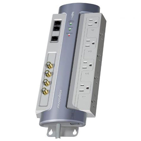 Panamax Max 8 Outlet Surge Protector with Coaxial and Telephone Protection - Grey