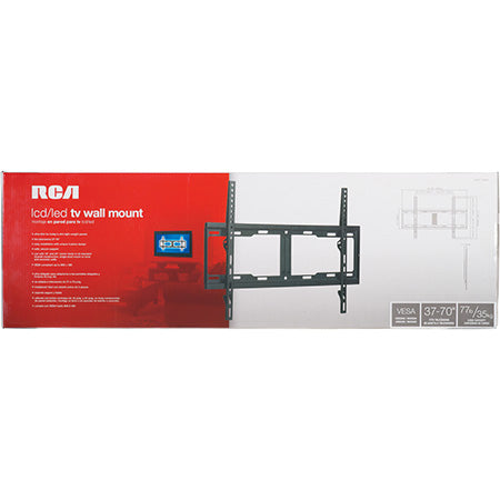 RCA Ultra Thin Fixed TV Wall Mount 37-in to 70-in - Black