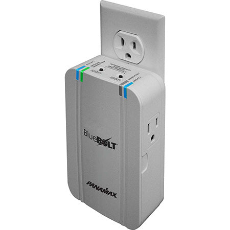 Panamax BlueBOLT 2 Outlet Surge Protector Smart Plug - Grey