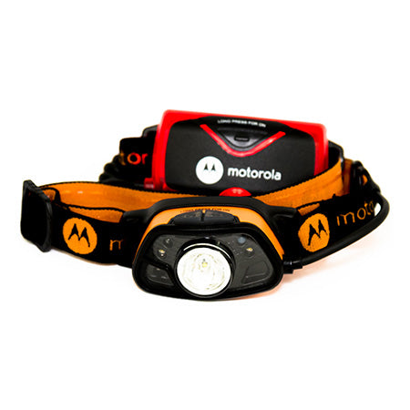 Motorola 250 Lumen Headlamp with Rear Lamp and Multiple Sensing - Orange